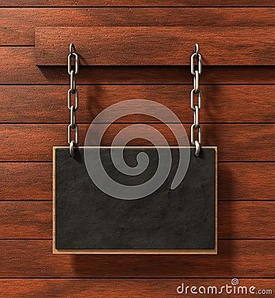 Chalkboard on wood