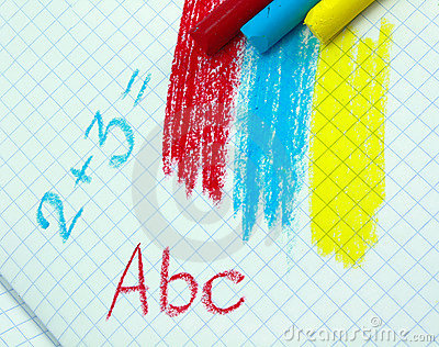 Chalks And Formules Stock Image - Image: 9137891