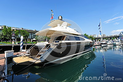 Challenger Riva on display at the Singapore Yacht Show 2013 Editorial Photography