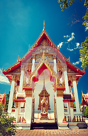 Free Chalong Temple In Phuket. Stock Photo - 63910110