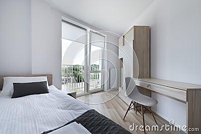 Chambre à Coucher Propre Et Moderne Dans Le Style ...