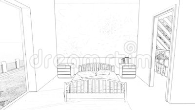 chambre coucher de dessin clips vid os vid o 50889417. Black Bedroom Furniture Sets. Home Design Ideas