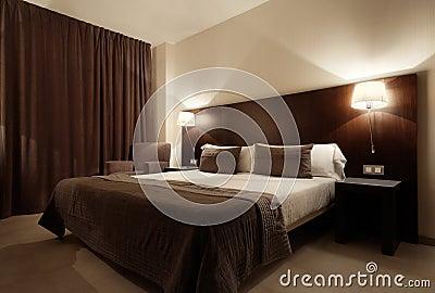 Chambre coucher de luxe moderne image libre de droits for Chambre de luxe moderne