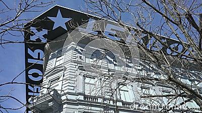 Chambre de musée de terreur à Budapest, Hongrie banque de vidéos