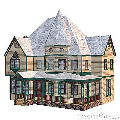 chambre victorienne d 39 hiver illustration stock image 40866038. Black Bedroom Furniture Sets. Home Design Ideas