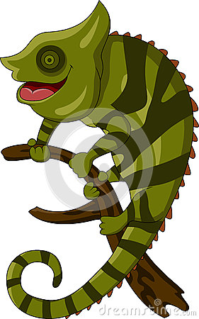 Chameleon cartoon smiling