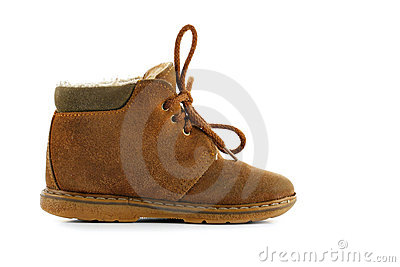 Chamois child shoe