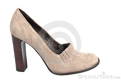 Chamois high-heel woman shoe