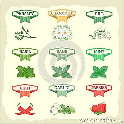 chamomile, garlic, dill, sage, basil,