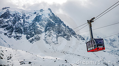 Chamonix, France - Cable Car Editorial Stock Image