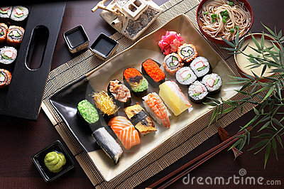 Champ de cablage à couches multiples de sushi