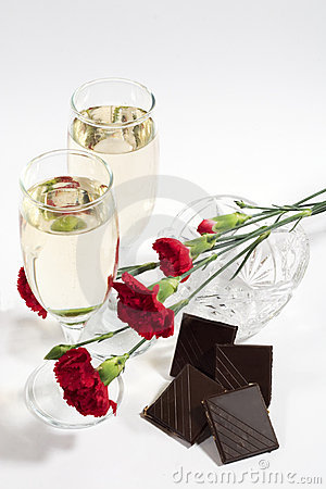 Free Champagne And Chocolate Royalty Free Stock Photography - 1642977