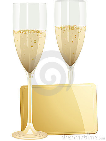 Free Champagne And Gift Tag Stock Photo - 19884170