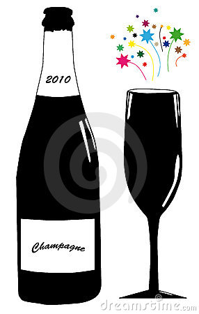 Free Champagne And Glass Royalty Free Stock Images - 12015079