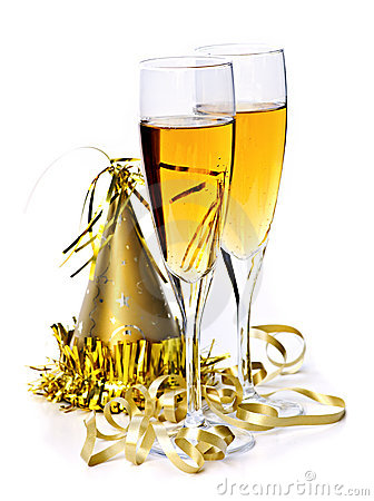 Free Champagne And New Years Decorations Royalty Free Stock Photography - 11459337