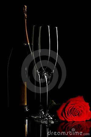 Free Champagne And Rose Stock Photo - 14883000
