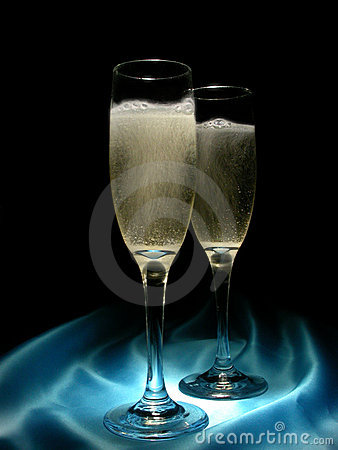 Free Champagne And Satin Royalty Free Stock Photo - 56775