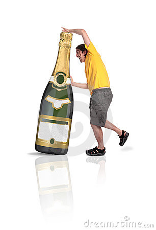 Champagne botlle