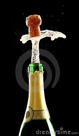 Free Champagne Bottle And Cork Stock Photos - 17771583