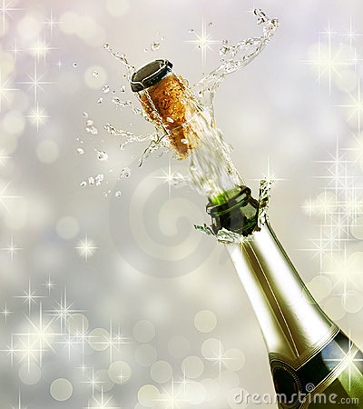 Free Champagne Bottle Explosion Royalty Free Stock Photography - 17149807
