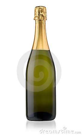 Free Champagne Bottle Isolated Stock Photography - 16788112