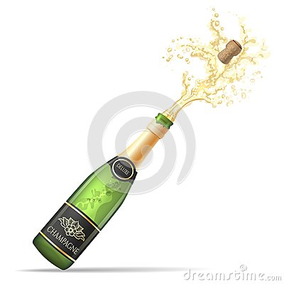 Free Champagne Bottle Pop And Fizz Stock Photography - 117772152