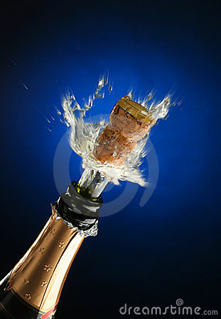 Free Champagne Bottle Ready For Celebration Stock Photos - 1456653