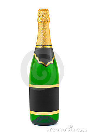 Free Champagne Bottle With Blank Label Royalty Free Stock Photo - 8306785