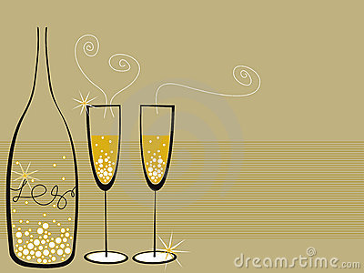 Champagne bubbles celebration