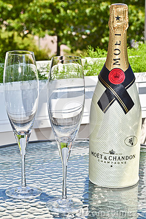 Champagne Editorial Stock Photo