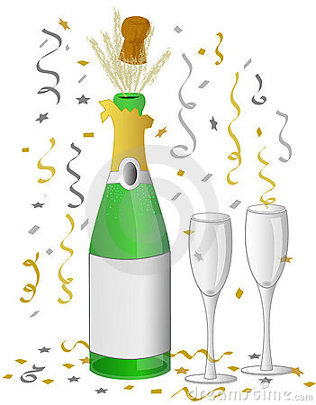 Champagne celebration/eps