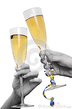 Free Champagne Cheers Stock Image - 2836121