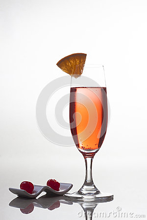 Champagne and cherries