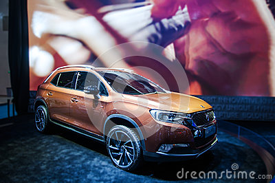 A champagne Citroen SUV Editorial Photography