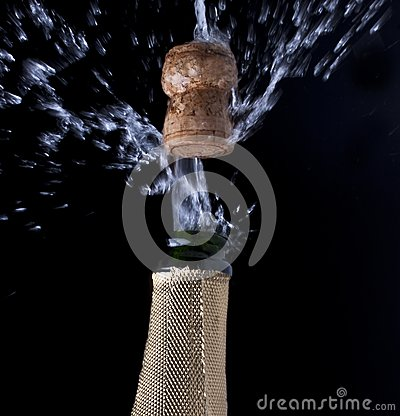 Champagne and cork