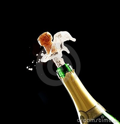 Champagne Cork and Bottle