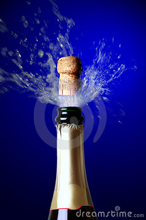 Champagne cork popping