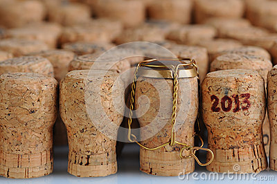 Champagne Corks With 2013 Date