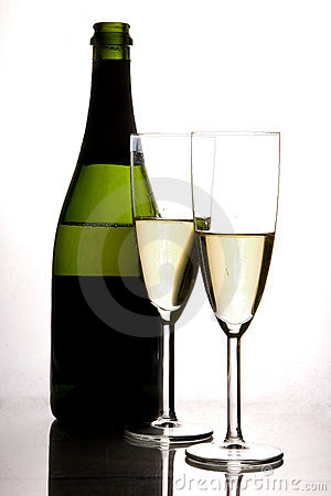 Champagne and flute