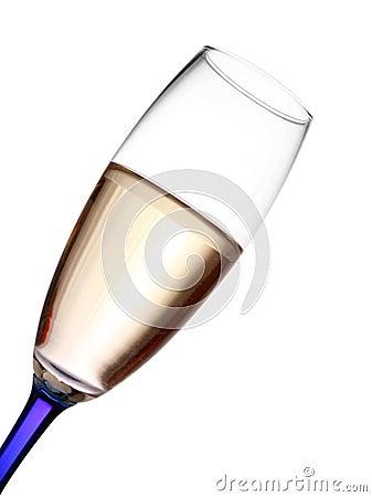 Champagne flute closeup