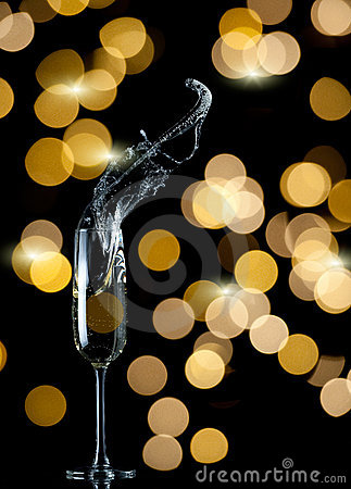 Free Champagne Flute Splash Stock Image - 21544011
