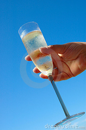 Free Champagne Glass Royalty Free Stock Photo - 1355305
