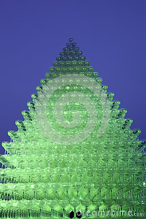 Champagne glass pyramid