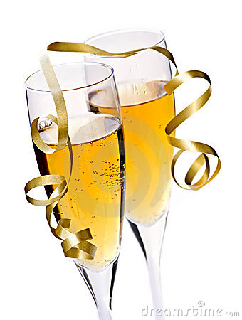 Free Champagne Glasses Royalty Free Stock Photography - 11459327