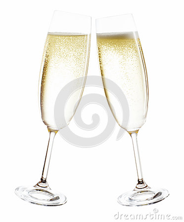 Free Champagne Glasses Royalty Free Stock Image - 27460236