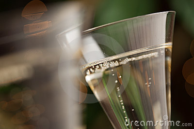 Champagne Glasses Abstract