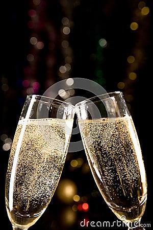 Free Champagne Glasses Making Toast Stock Photo - 6892790
