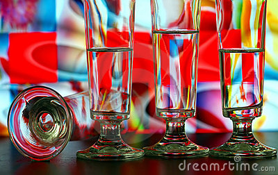Champagne glasses pattern