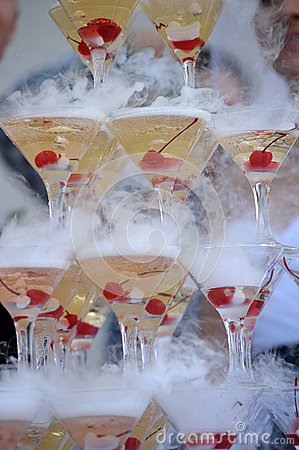 Free Champagne Glasses Tower Stock Image - 26825001