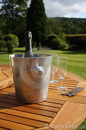 Champagne In Ice Bucket Royalty Free Stock Photo - Image: 15637625
